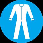 Būtina vilkėti apsauginius drabužius