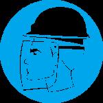 Devėti veido apsaugą ir šalmą
