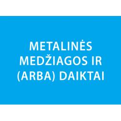 Metalines medžiagos ir daiktai