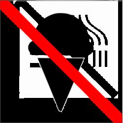 Ledus salone valgyti draudžiama